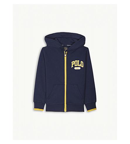 RALPH LAUREN Zip-up cotton-blend hooded jacket 2-14 years (Spring+navy