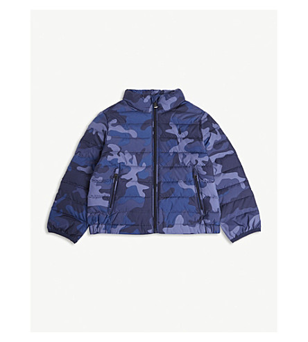 RALPH LAUREN Camouflage padded down jacket 2-7 years (Navy+camo