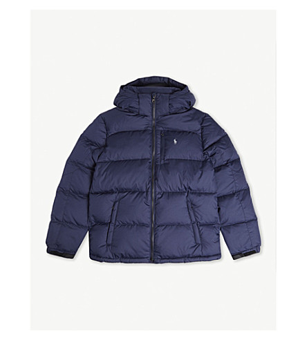 RALPH LAUREN Padded down and feather jacket 2-7 years (French+navy