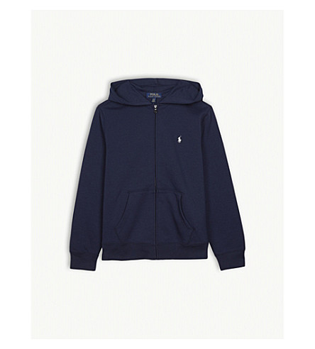 RALPH LAUREN Embroidered logo hoody 2-4 years (French+navy