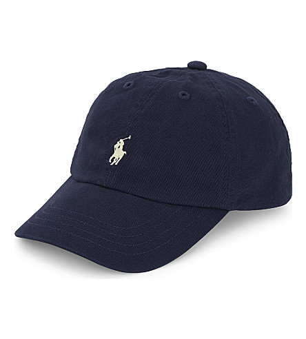 RALPH LAUREN Classic Pony cotton baseball cap (Newport+navy