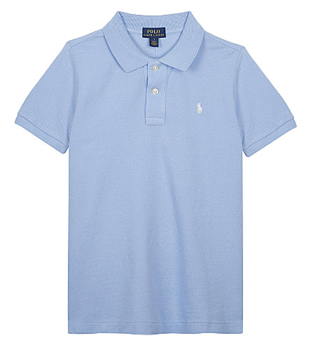 RALPH LAUREN 棉网马球衫5-7 年 (奥斯汀 + 蓝色