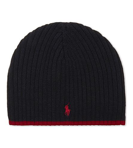 RALPH LAUREN Logo wool hat (Hunter+navy