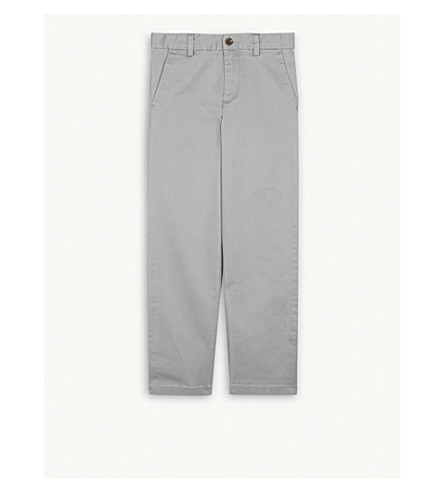 RALPH LAUREN Stretch-cotton chinos 5-7 years (Avenue+grey