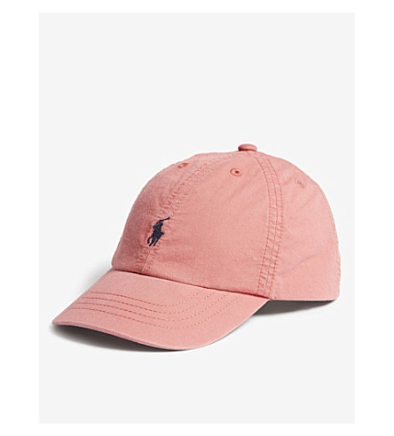 RALPH LAUREN Logo cotton cap (Pink