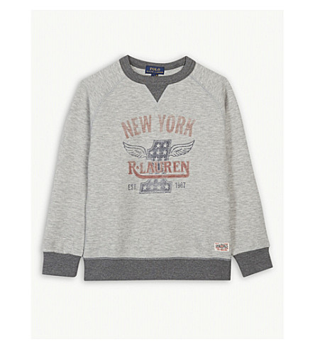 RALPH LAUREN New York cotton-blend sweatshirt 5-7 years (Light+grey