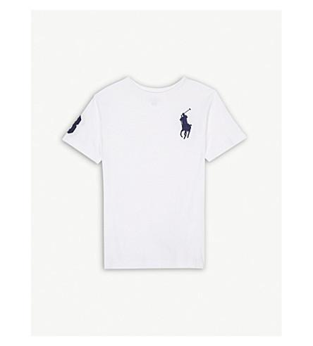 RALPH LAUREN Oversized logo cotton T-shirt 5-7 years (White