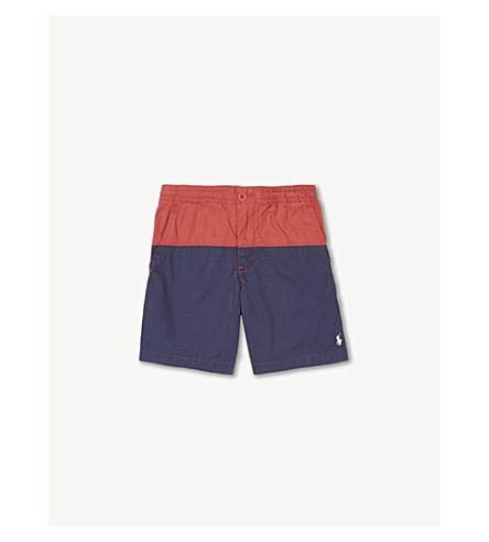 RALPH LAUREN Colour block cotton shorts 5-7 years (Maine red