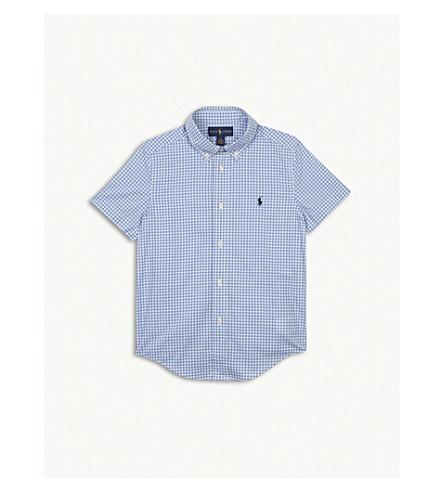 RALPH LAUREN Gingham check cotton shirt 5-7 years (Lt+blue+multi