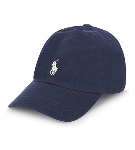 RALPH LAUREN Logo cotton cap (Newport+navy