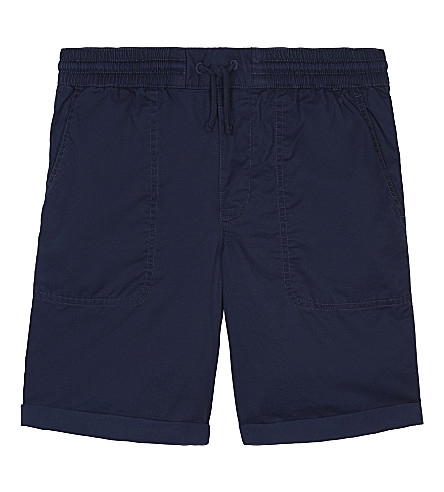 RALPH LAUREN Turn-up cotton shorts 6-14 years (Fresco+blue