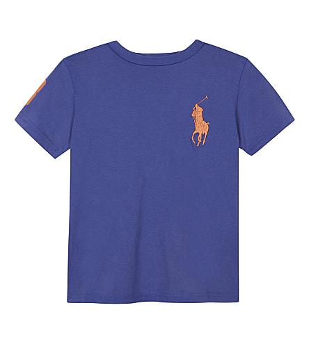 RALPH LAUREN Big Pony cotton T-shirt 6-14 years (Deckhand+blue