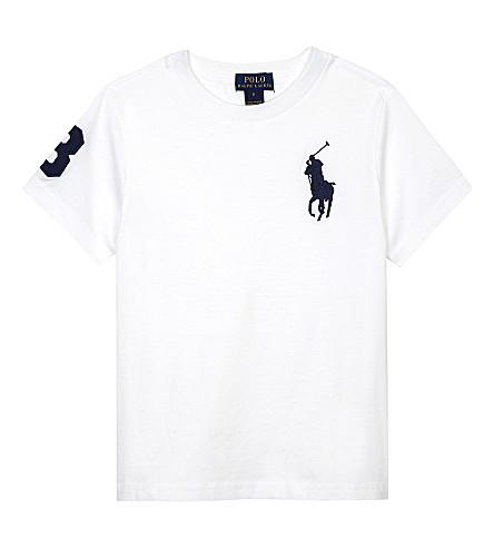 RALPH LAUREN Big Pony cotton T-shirt 6-14 years (White
