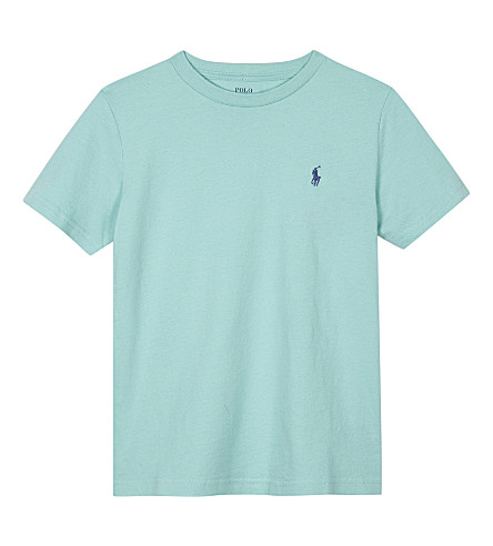 RALPH LAUREN Logo cotton T-shirt 6-14 years (Bayside+green