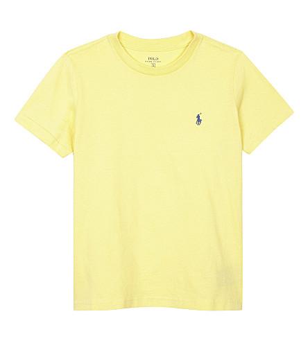 RALPH LAUREN Logo cotton T-shirt 6-14 years (Banana+peel
