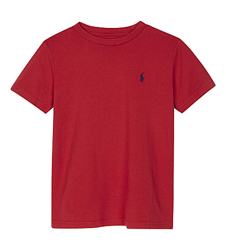 RALPH LAUREN Logo cotton T-shirt 6-14 years (Sunrise+red