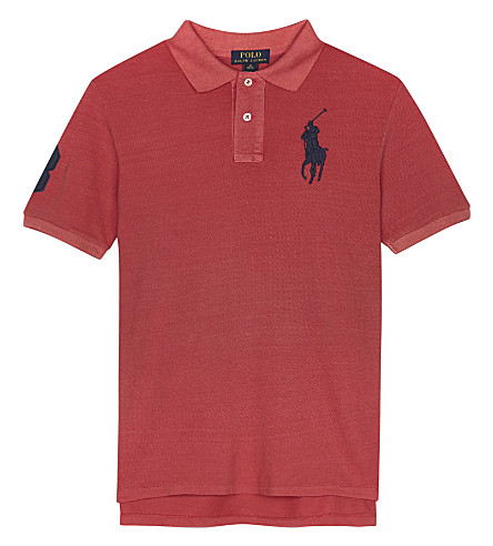 RALPH LAUREN Big Pony cotton polo shirt 6-14 years (Sunrise+red