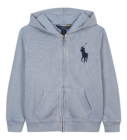 RALPH LAUREN Cotton hoody 6-14 years (Mast+blue