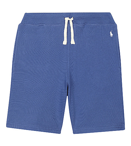 RALPH LAUREN Pony cotton shorts 6-14 years (Sporting+blue