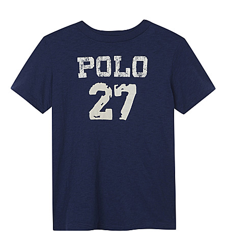 RALPH LAUREN Polo 27 cotton T-shirt 6-14 years (Fresco+blue