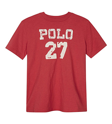RALPH LAUREN Polo 27 cotton T-shirt 6-14 years (Sunrise+red