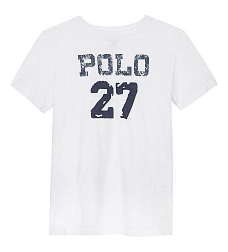 RALPH LAUREN Printed cotton T-shirt 6-14 years (White