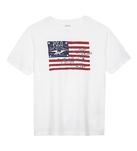 RALPH LAUREN Graphic cotton t-shirt 6-14 years (White