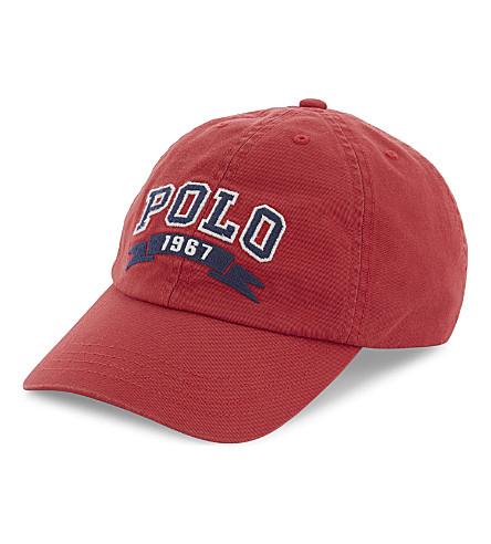 RALPH LAUREN Iconic logo cotton cap (Sunrise+red