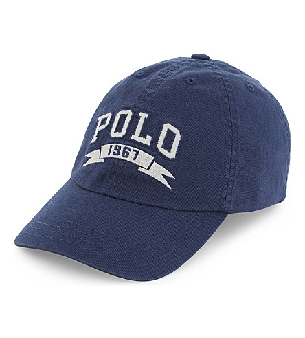 RALPH LAUREN Iconic logo cotton cap (Fresco+blue