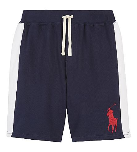 RALPH LAUREN Stripe trim cotton shorts 6-14 years (Newport+navy