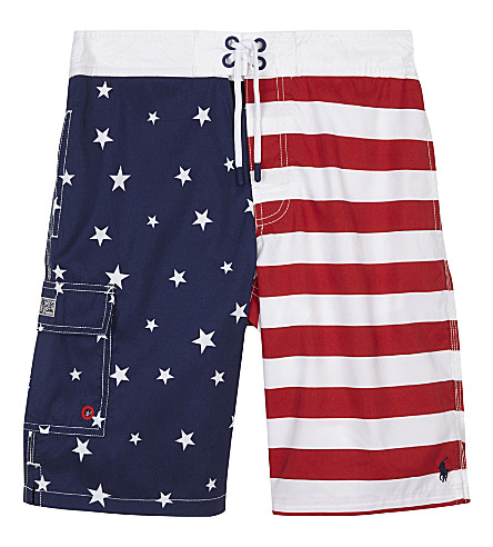 RALPH LAUREN Kailua flag trunks 6-14 years (American+flag