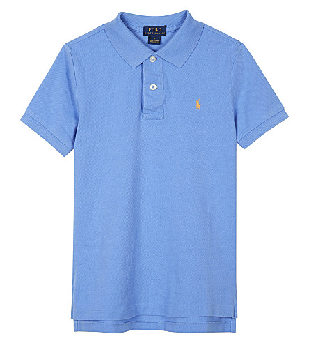 RALPH LAUREN Logo cotton polo shirt 6-14 years (Harbor+island+b