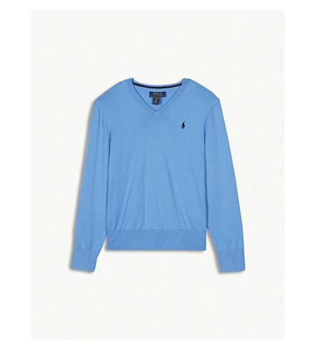 RALPH LAUREN Logo cotton jumper S-XL (Florida+blue