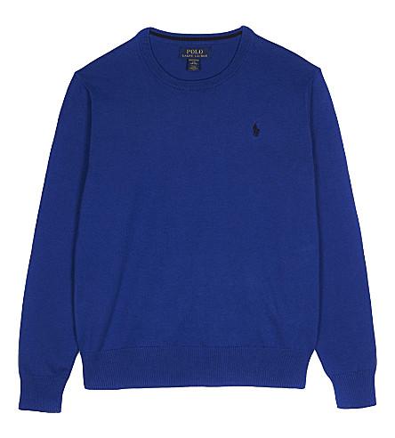 RALPH LAUREN Cotton jumper 6-14 years (Blue