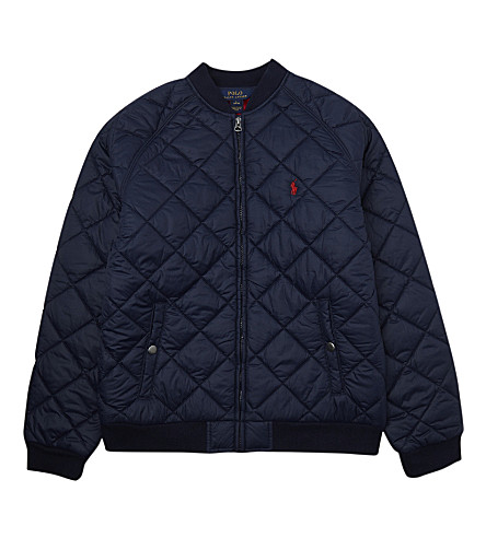 RALPH LAUREN Quilted baseball jacket S-XL (French+navy
