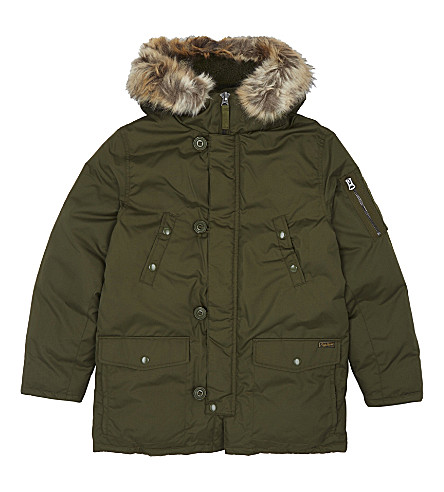 RALPH LAUREN Down-filled Parka coat 6-14 years (Fall+olive