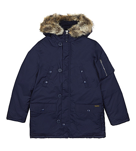 RALPH LAUREN Down-filled Parka coat 6-14 years (French+navy