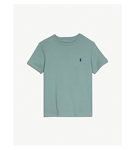 RALPH LAUREN Pony cotton T-shirt 6-14 years (Green