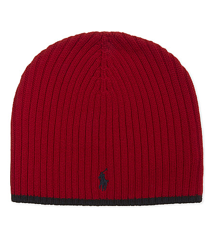 RALPH LAUREN Logo wool hat (Ralph+red