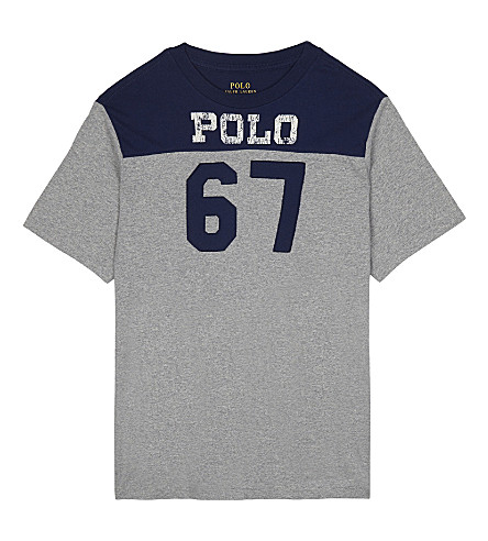 RALPH LAUREN Logo cotton t-shirt S-XL (Andover+heather