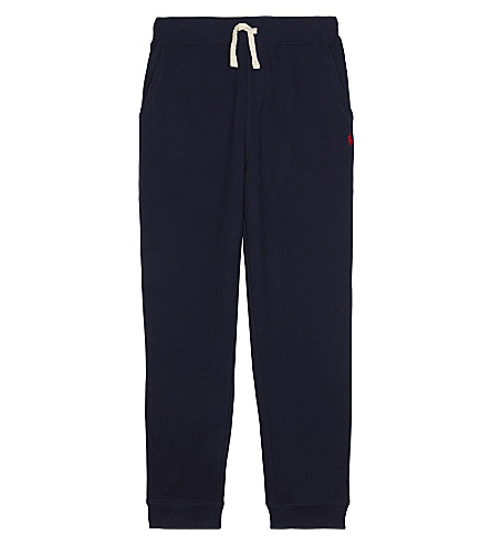 RALPH LAUREN Pony cotton-blend jogging bottoms 7-14 years (Cruise+navy