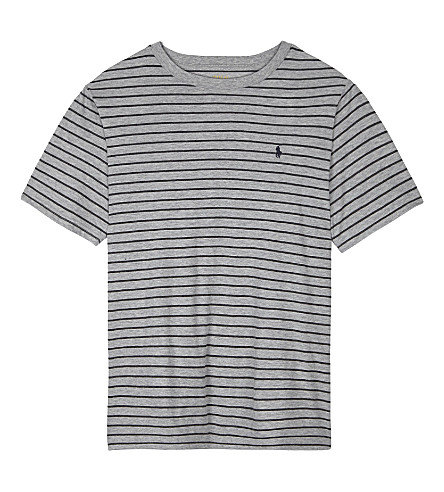 RALPH LAUREN Striped cotton T-shirt 6-14 years (Andover+heather