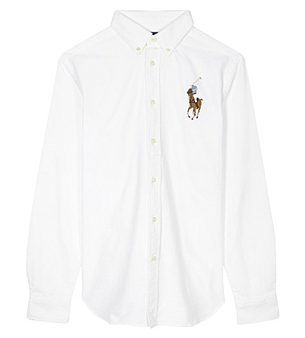 RALPH LAUREN Rl b big pp ls shirt (Bsr+white