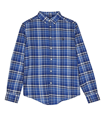 RALPH LAUREN Checked cotton shirt 6-14 years (White+multi