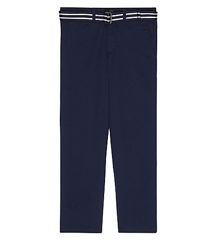 RALPH LAUREN Slim fit belted chinos 8 -16 years (French+navy