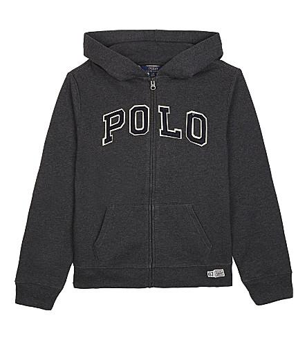 RALPH LAUREN POLO zip-up cotton-blend hoody (Windsor+heather