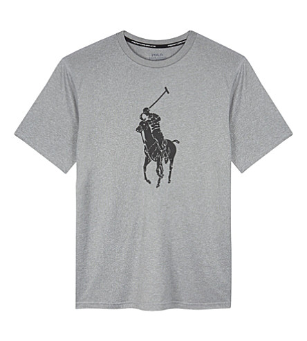 RALPH LAUREN Logo print T-shirt 6-14 years (Andover+heather