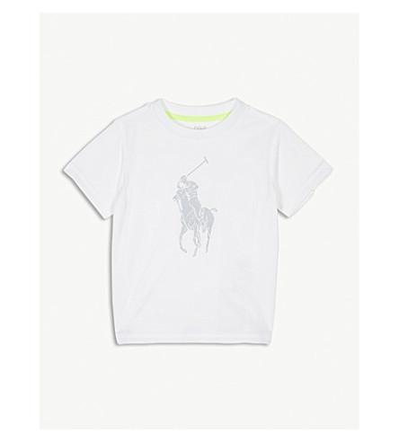 RALPH LAUREN Performance reflective pony T-shirt 6-14 years (Pure+white