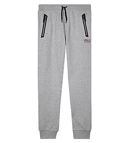 RALPH LAUREN Zip pocket cotton jogging bottoms 6-14 years (Andover+heather