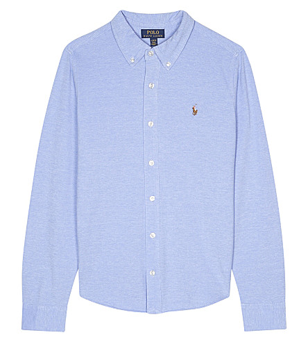 RALPH LAUREN Knitted Oxford shirt S-XL (Harbor+island+b